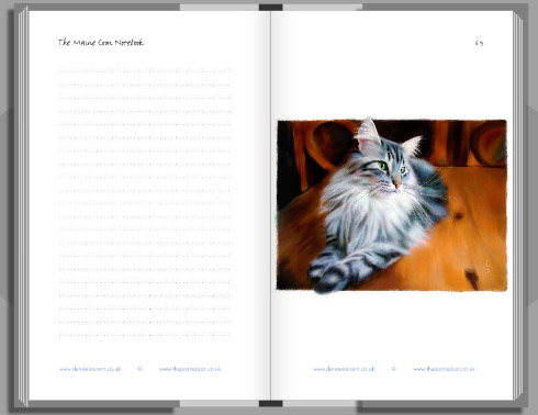mainr coon notebook