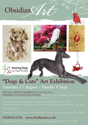 Dogs and Cats Art Exhibition at Obsidian Art Gallery