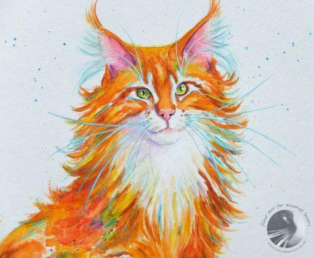 Ginger Nut 18x14 acrylic painting2