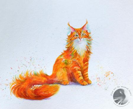 Ginger Nut 18x14 acrylic painting3