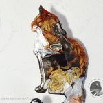 New Tortie Cat Brooch