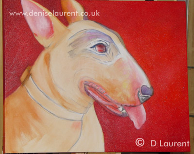 Lola Stage 3 - Adding colour to her ears, mouth and tongue