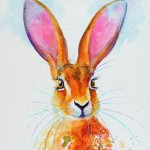 Ostara – A Hare In Watercolour – sold