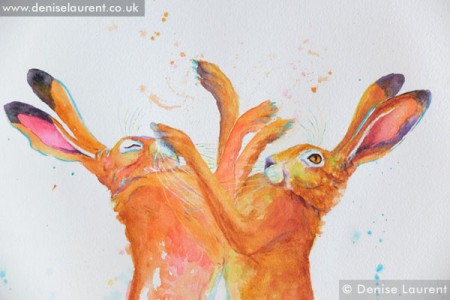 boxing hares 2 detail