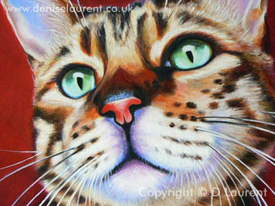 A detail from the finished painting of Charlie