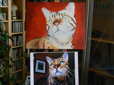 Stage 4 with the photo next to the easel