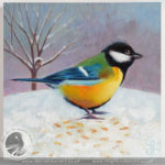 A Great Tit Painting