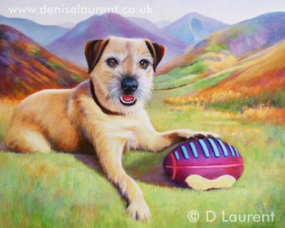 Poppy - A Border Terrier - A 20x16 inch oil painting on canvas