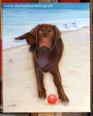 Prince On The Beach - The finished painting